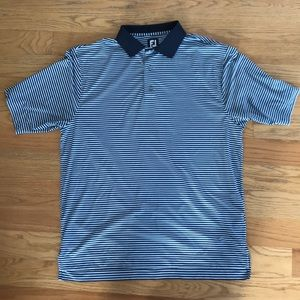 Foot joy striped polo blue large